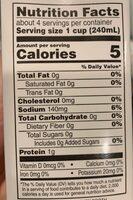 Organic chicken broth, chicken - Nutrition facts - en