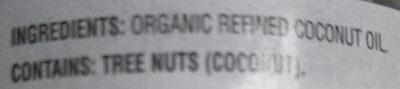 organic coconut oil - Ingredients