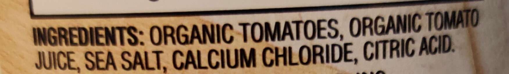 Organic Petite Diced Tomatoes - Ingredients