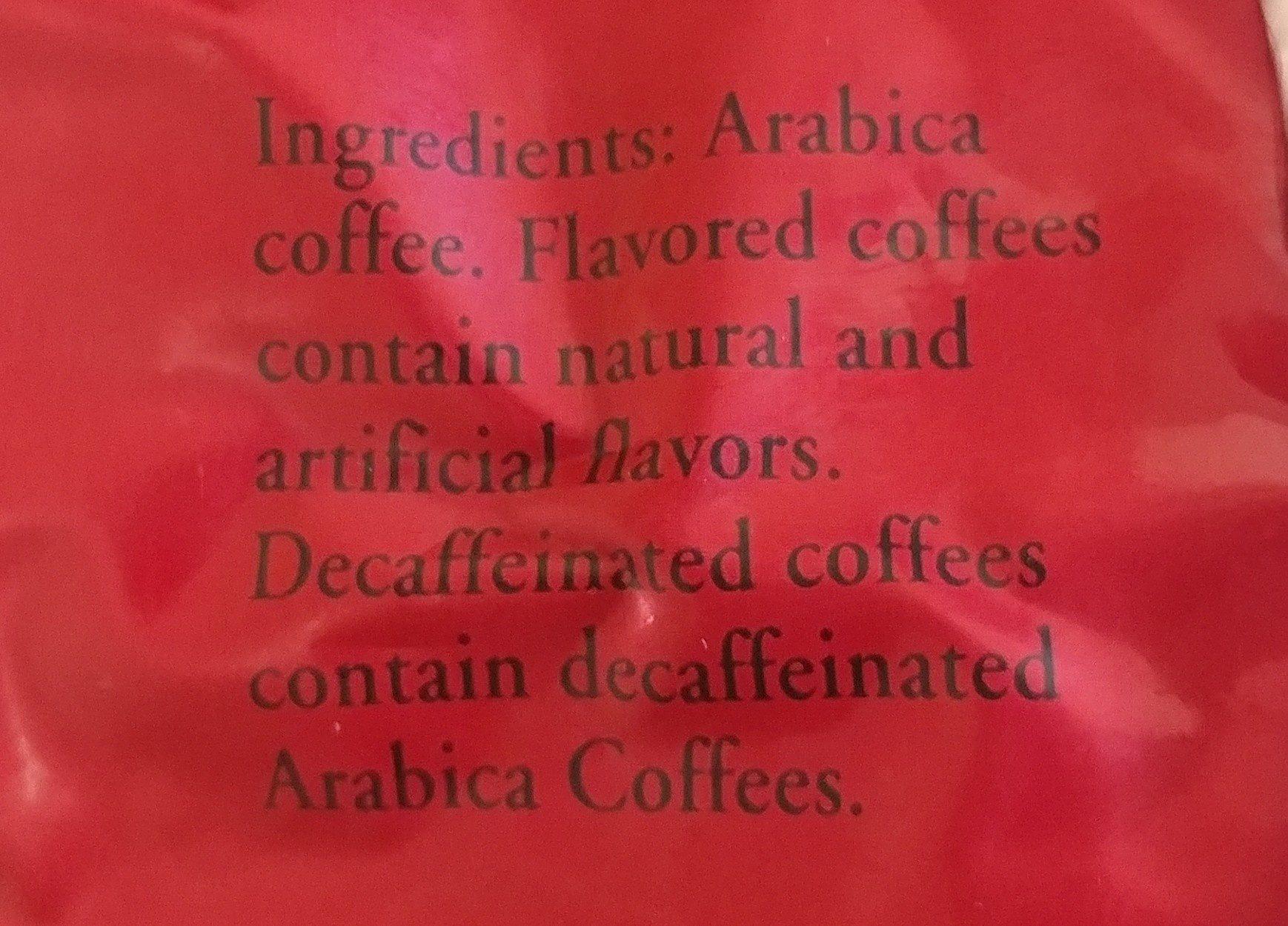 Coffee - Ingrediënten