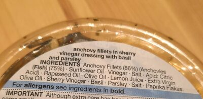 Marinated anchovy fillets - Ingrédients - fr