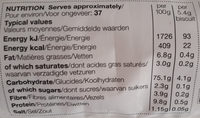 High Bake Water Biscuits - Informations nutritionnelles - fr