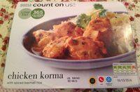 Chicken Korma with Spiced Basmati Rice - Produit