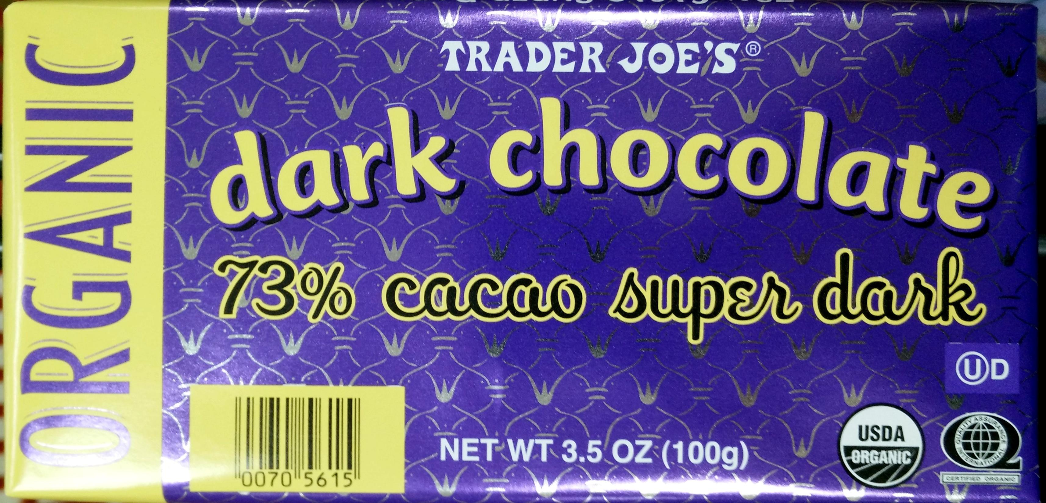 Dark Chocolate 73% cacao super dark - Product