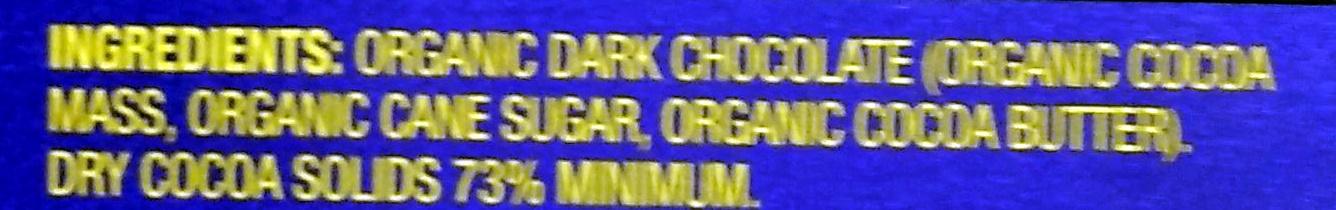 Dark Chocolate 73% cacao super dark - Ingredients