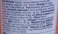 Orange & Carrot Juice - Nutrition facts