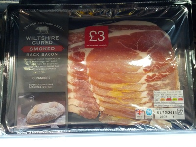 Wiltshire Cured Smoked Back Bacon - Produit