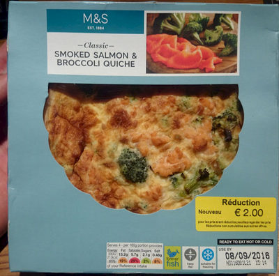 Smoked Salmon and Broccoli Quiche - Product