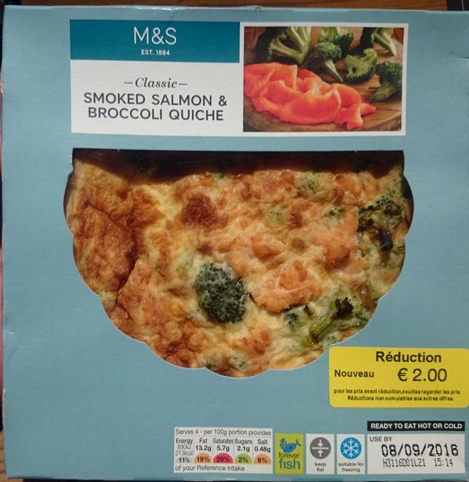 Smoked Salmon and Broccoli Quiche - Produit