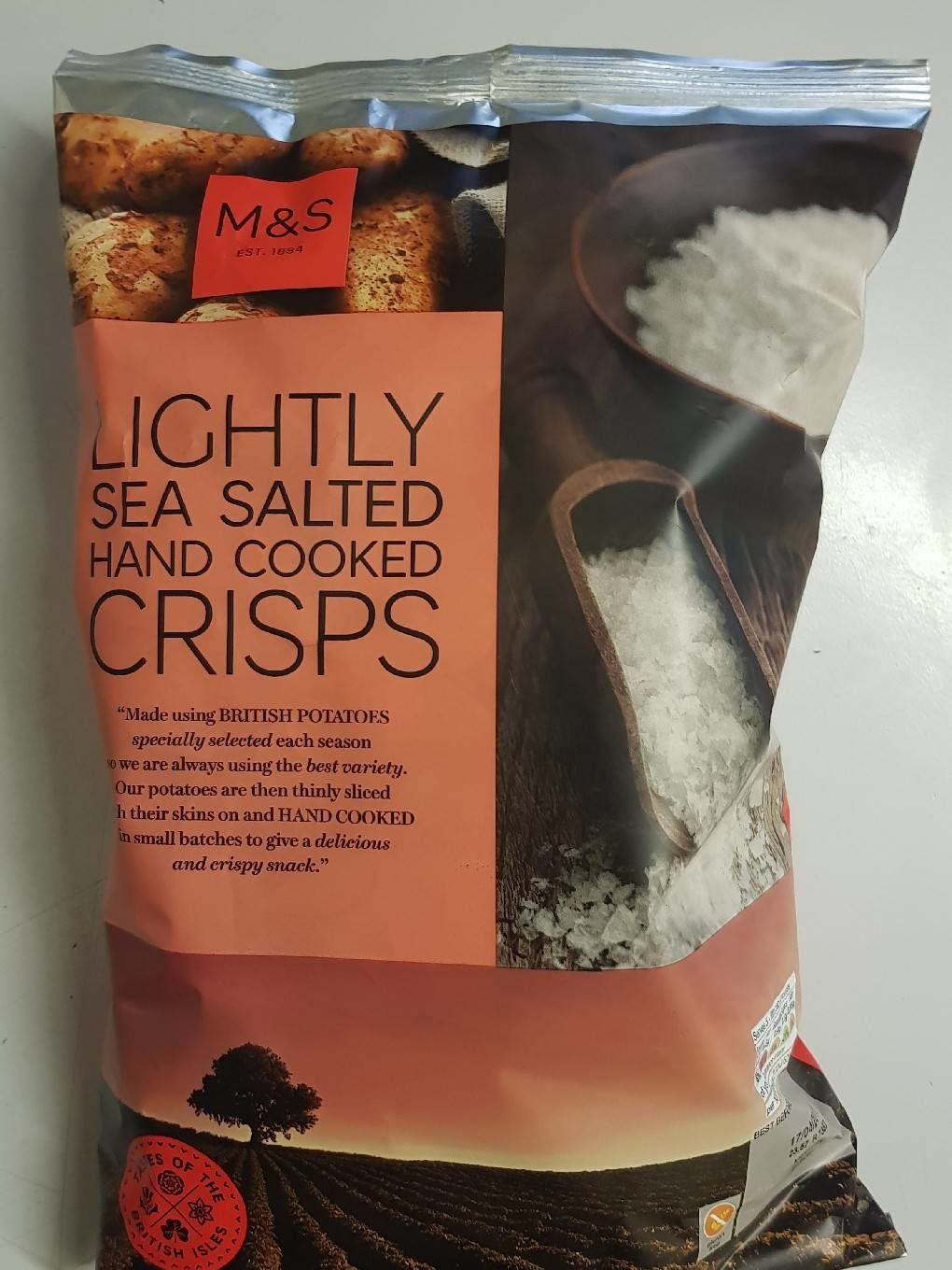 Lightly sea salted hand cooked crisps - Product - fr
