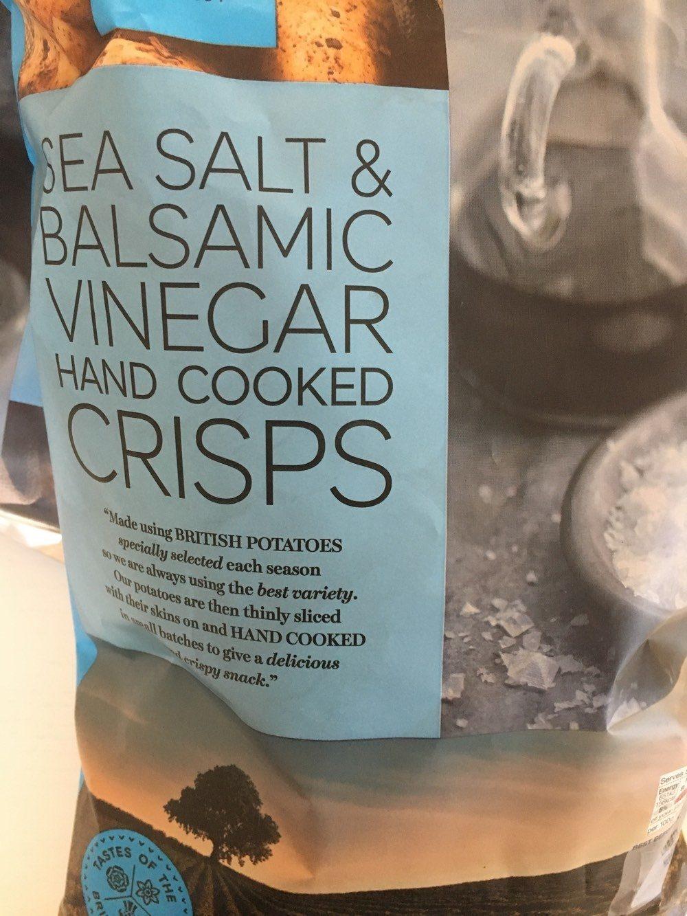 Sea salt balsamic vinegar hand cooked crisps marks - Vinaigre et gros sel ...