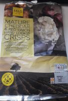 Mature Cheddar & Red Onion Hand Cooked Crisps - Product