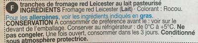 Red Leicester - Ingredients