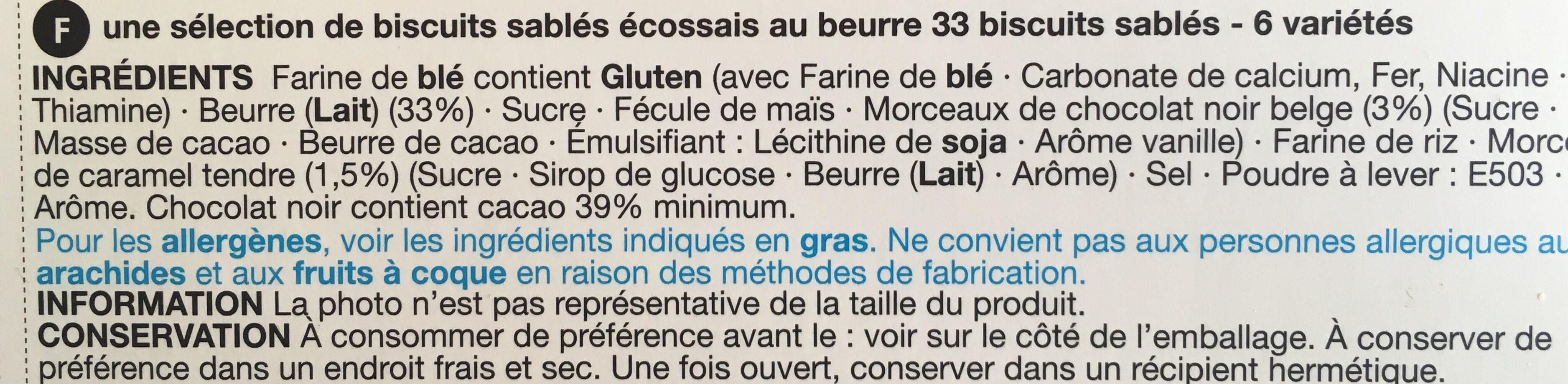 Shortbread - Ingrédients - fr
