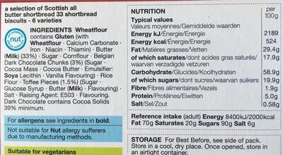 Shortbread - Informations nutritionnelles - fr