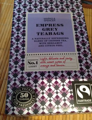 Empress grey teabags - Product - fr