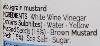 Wholegrain Mustard - Ingredients