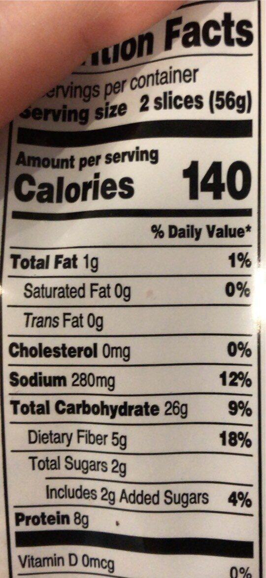 Spouted Wheat 7 Grain Bread - Nutrition facts - en
