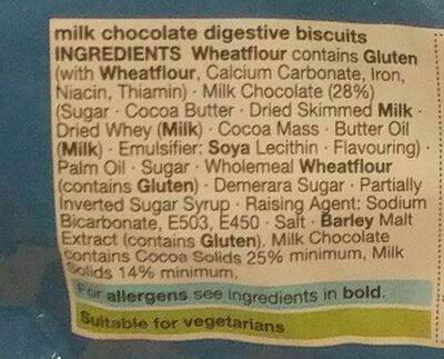 Milk Chocolate Digestives - Ingrédients - en