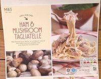 Ham & Mushroom Tagliatelle - Product - fr
