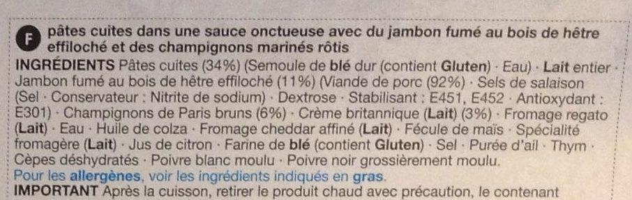 Ham & Mushroom Tagliatelle - Ingrediënten - fr