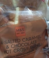 4 Salted Caramel and Chocolate Hot Cross Buns - Produit - fr
