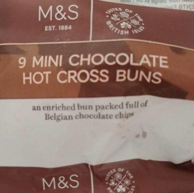 9 Mini chocolate hot cross buns - Product