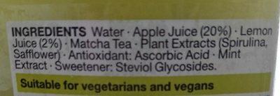 Iced Tea Apple & Matcha - Ingrédients