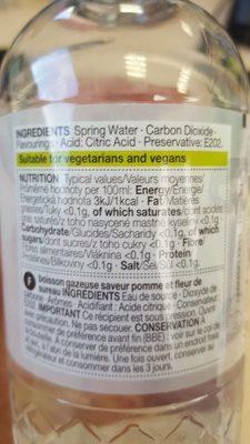 Sparkling Spring Water - Informations nutritionnelles - fr