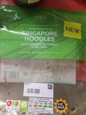 Singapore Noodles with Carrots, Butternut & Pak Choi - Product