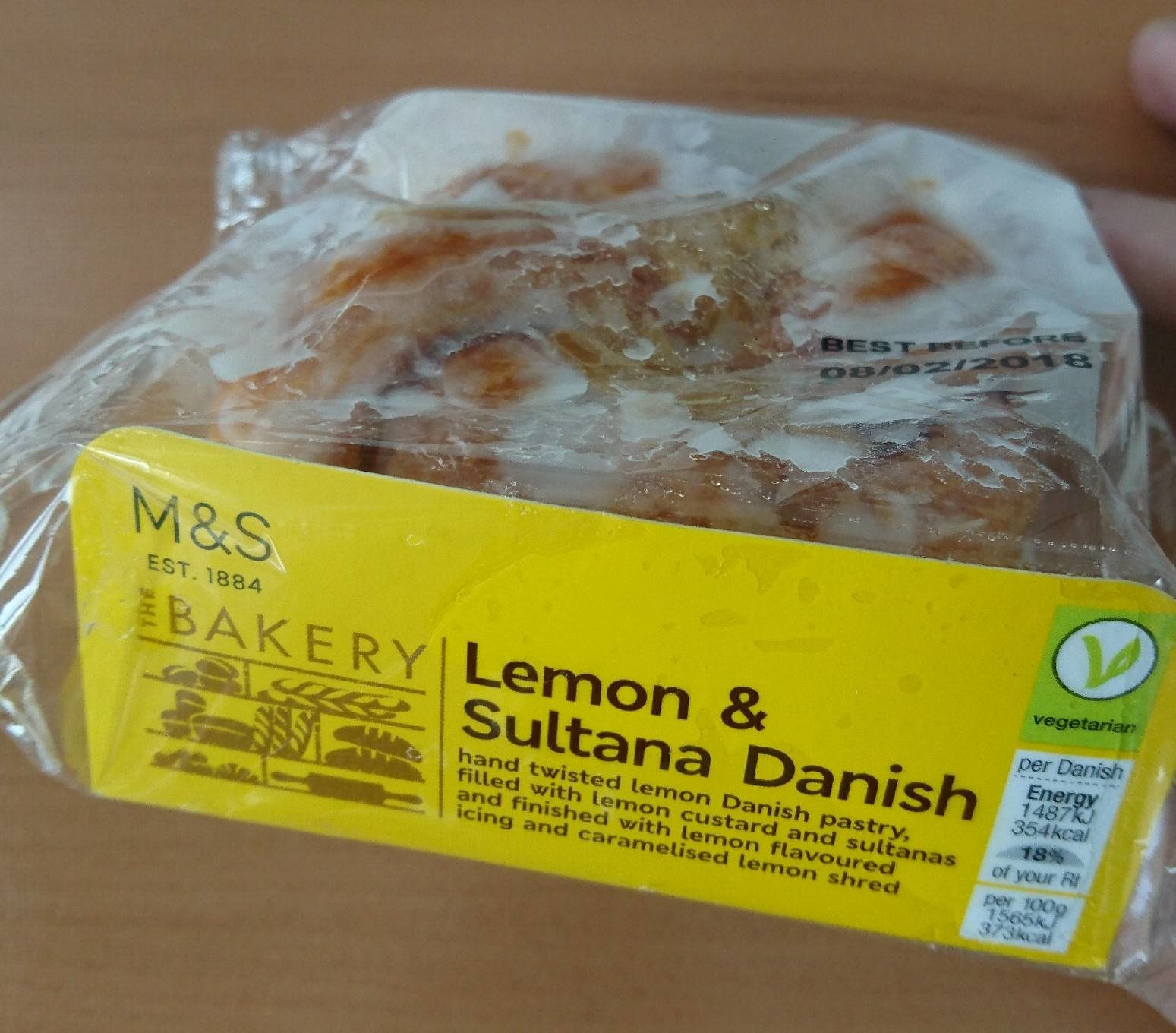 Lemon & Sultana Danish - Product