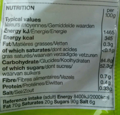 Veggie Percy - Nutrition facts