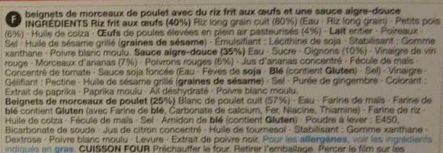 Sweet and Sour Chicken - Ingredients - en
