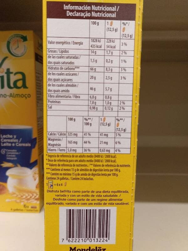 - Información nutricional - en
