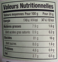 SEAWEED CRISPS - Chips d'Algues - Informations nutritionnelles
