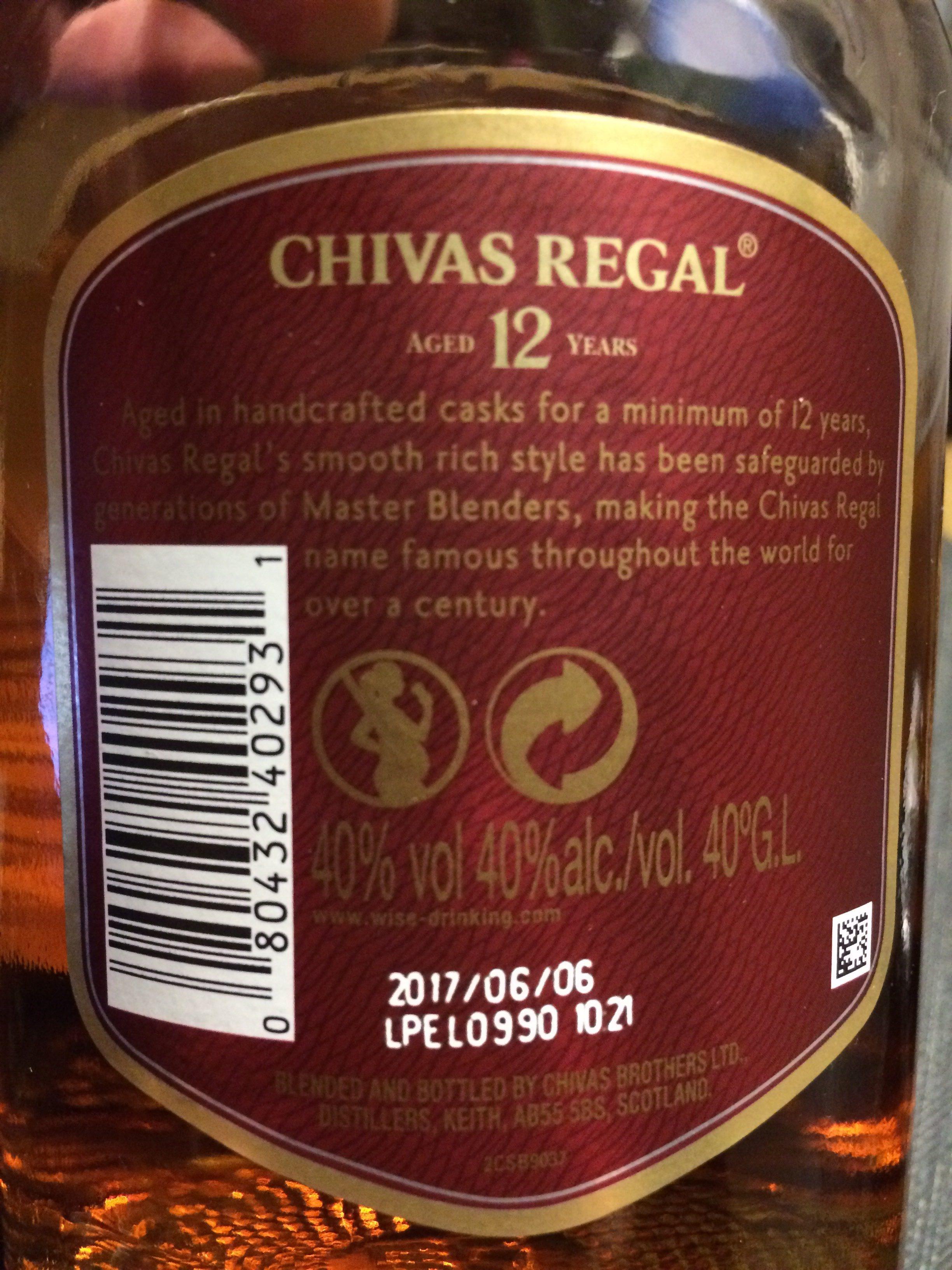 Blended Scotch Whisky aged 12 years - Ingrediënten