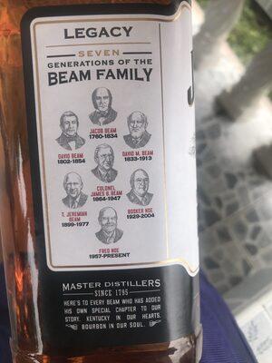 Jim Beam - Informations nutritionnelles - fr