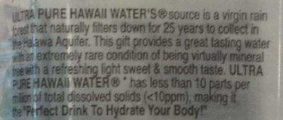 Hawaii water - Ingredients
