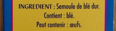 Couscous Tipiak - Ingredients - fr