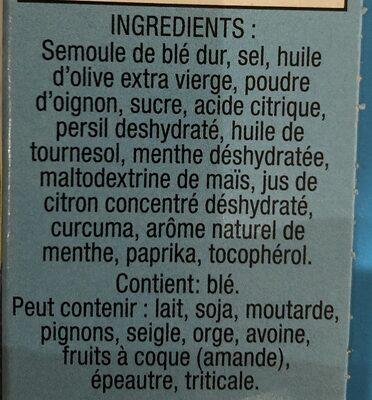 Couscous Menthe Et Citron - Ingredients - fr