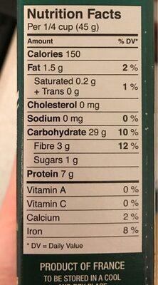 Délices de grains - Nutrition facts - fr