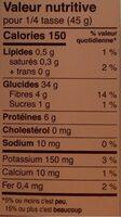 Couscous blé entier - Nutrition facts - fr