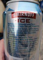 smirnoff ice - Ingredients - en