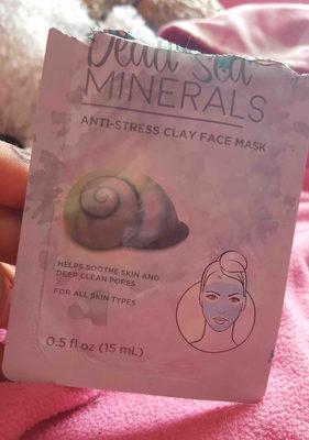 dead sea minerals anti-stress clay face mask - Product - en