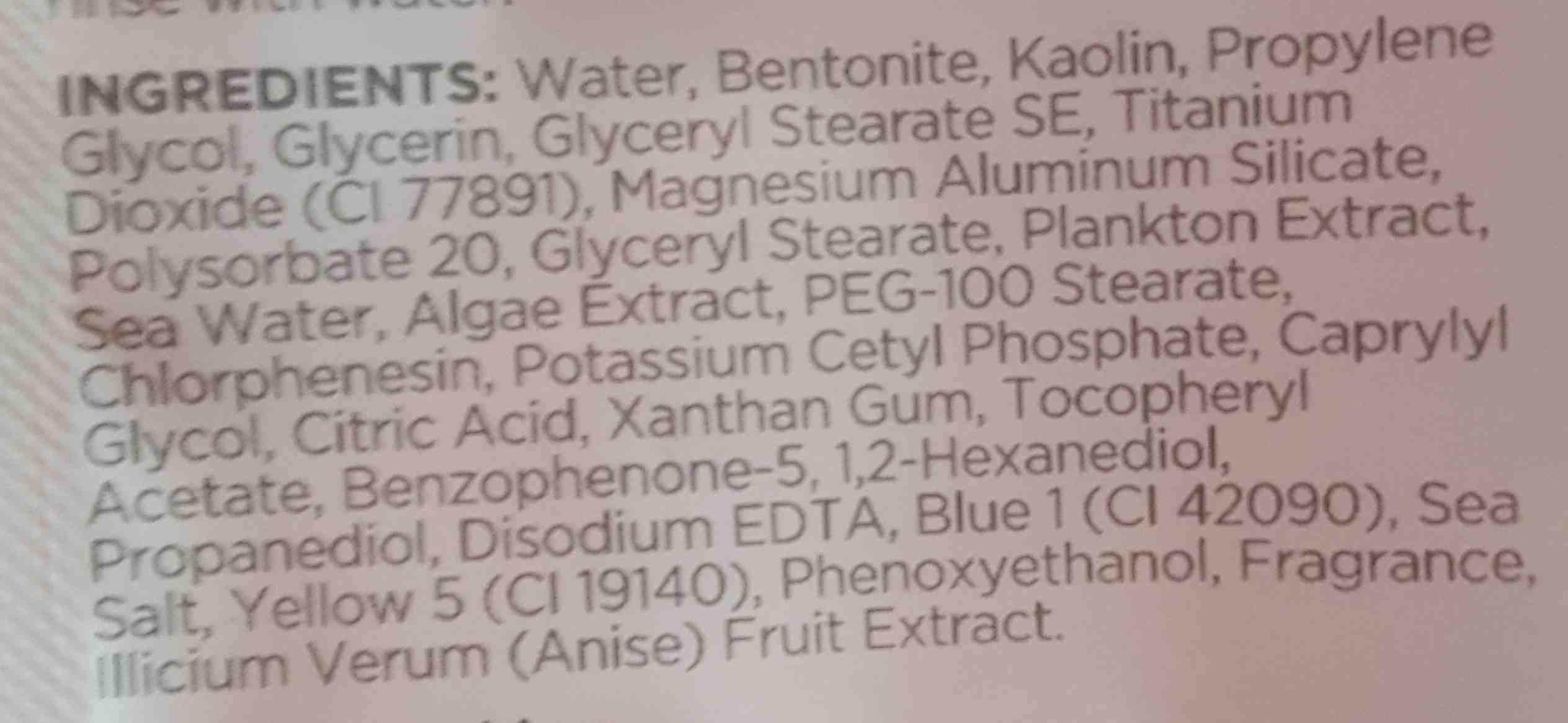 dead sea minerals anti-stress clay face mask - Ingredients - en