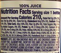 Blue Machine, Juice Smoothie - Nutrition facts - en