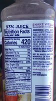 Naked Protein Zone Protein Juice Smoothie Double Berry - Ingredients