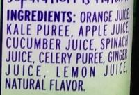 Veggies Kale Blazer - Ingredients