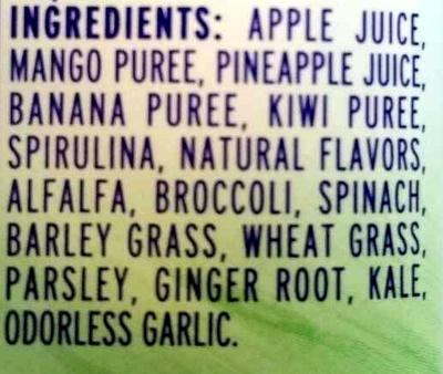 Green Machine - Ingredients