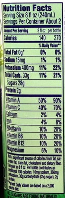 100% boosted juice smoothie - Nutrition facts - en